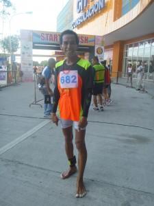 barefoot runner, consolacion, cebu, philippines