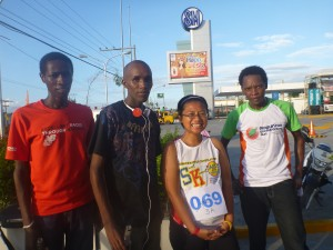 kenyan runners in consolacion, cebu