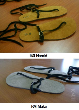 KAI Namid running sandal / minimalist footwear and Kai running sandal / minimalist footwear made in cebu, philippines