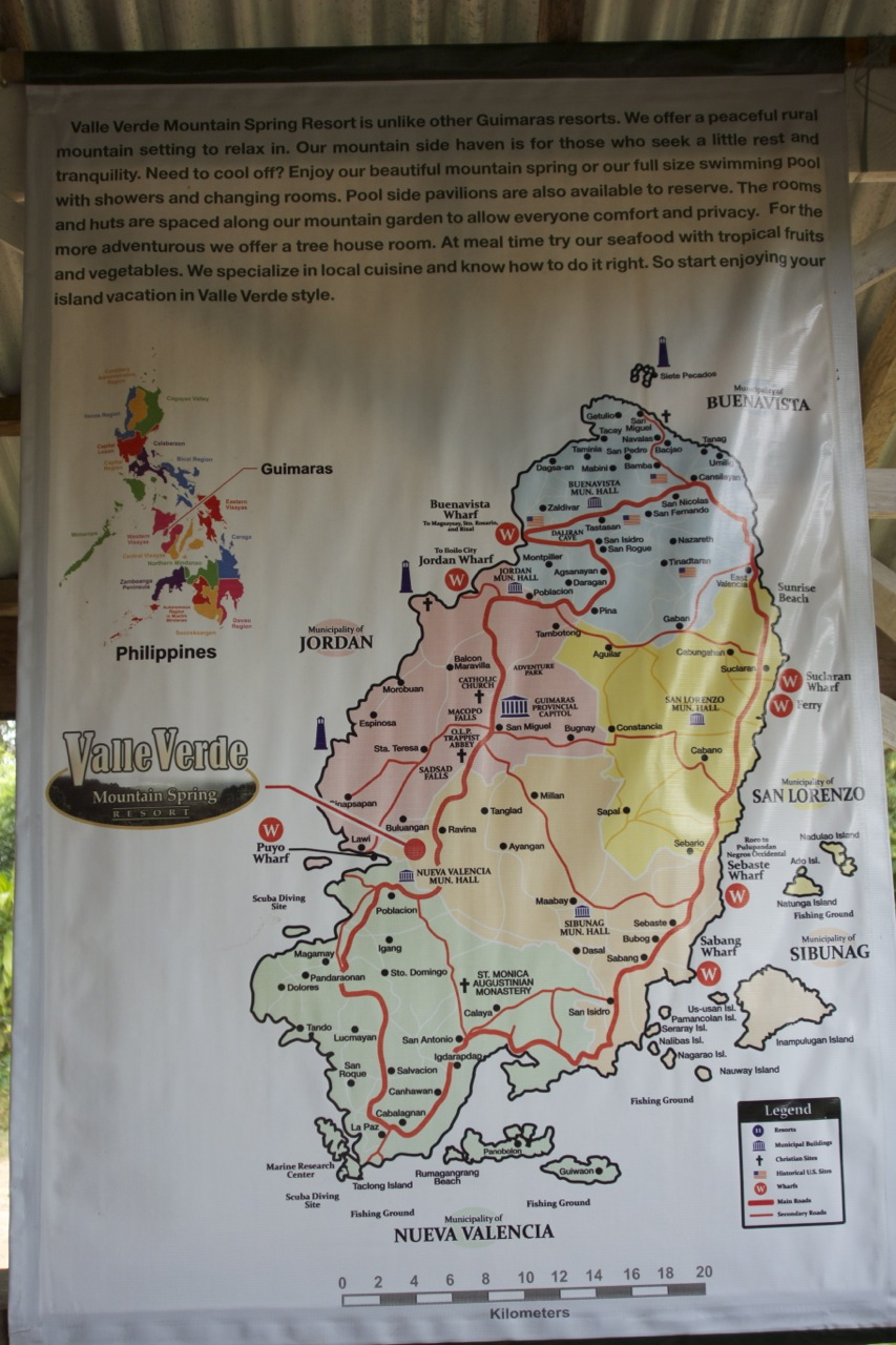 Guimaras Map Displayed at Valle Verde