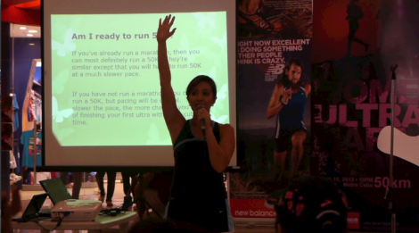 Haide Acuna at All Women Ultra Marathon 2012 Talk