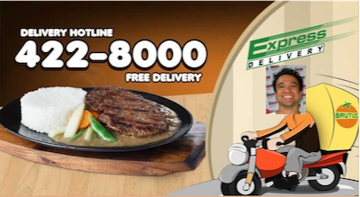 (032) 422-8000 for Orange Brutus Delivery Contact number