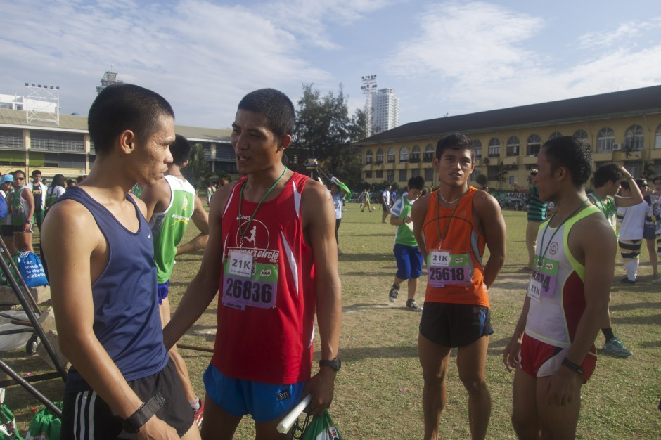 Top 4 21K Male (left to right): Zafico, Tillor, Monjas, Duenas