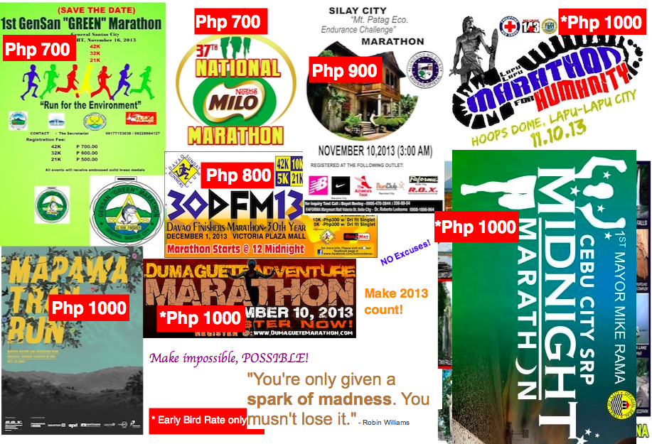 Marathons in Philippines for 2013