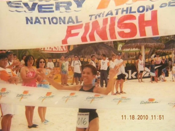 Nancy Pajarillo, National Elite. Philippine Representative. Photo from Bataan International Triathlon