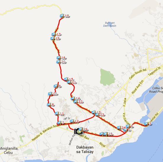 Talisay City Marathon 42K Route