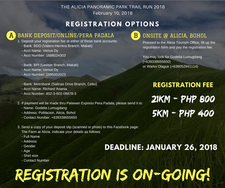 The Alicia Panoramic Park Trail Run 2018: ALI NA sa ALICIA, BOHOL